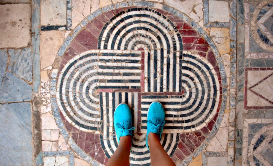 Mosaic in Ostia Antica, Rome, Italy