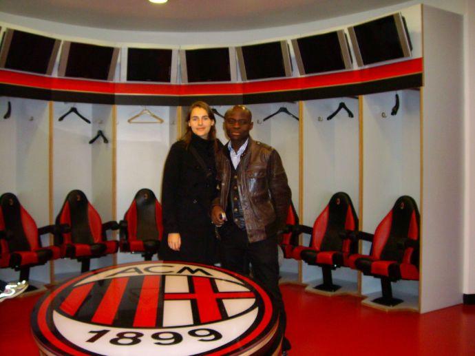 AC Milan's lockers