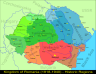 Map of Greater Romania in 1918