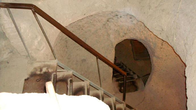 Stairs to Kaymakli Underground City in the Central Anatolia Region of Turkey