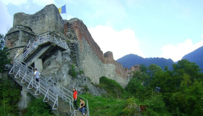 Stairs to Poenari Citadel in Romania