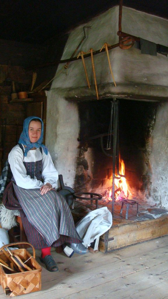 Swedish woman volunteering in Skansen