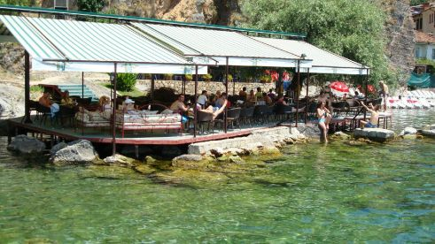 Bars by Lake Ohrid