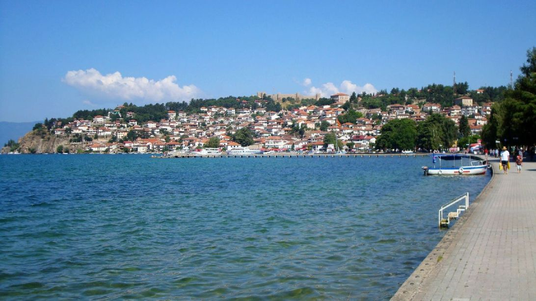 Ohrid Old Town seen from the Riviera