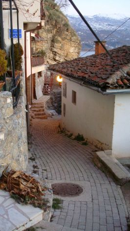 Winding streets in Ohrid