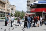 Outdoor chess game in Craiova