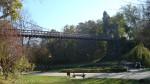 Romanescu Park in Craiova - the Suspended Bridge