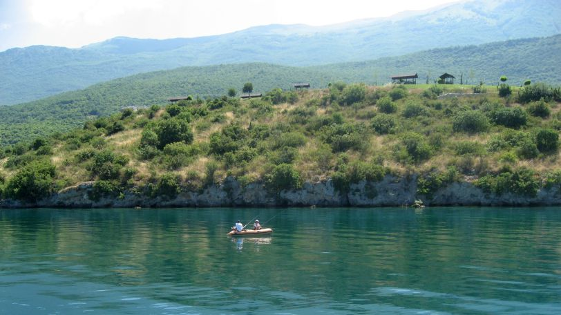 Fishing in Lake Ohrid