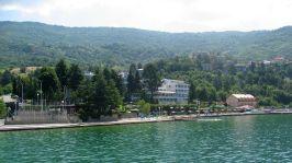 Hotels along Lake Ohrid's shore