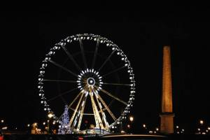 Paris by night - Ferris Wheel and Obelisk of Luxor