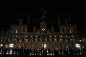 Paris by night - Paris City Hall or Hôtel de Ville