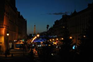 Paris by night - The Eiffel Tower in the background