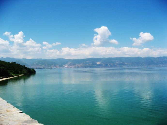 Albania seen from St Naum Monastery