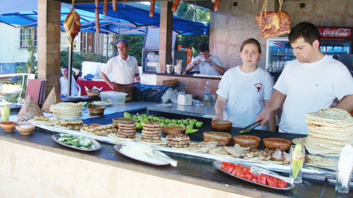 Street food in St Naum