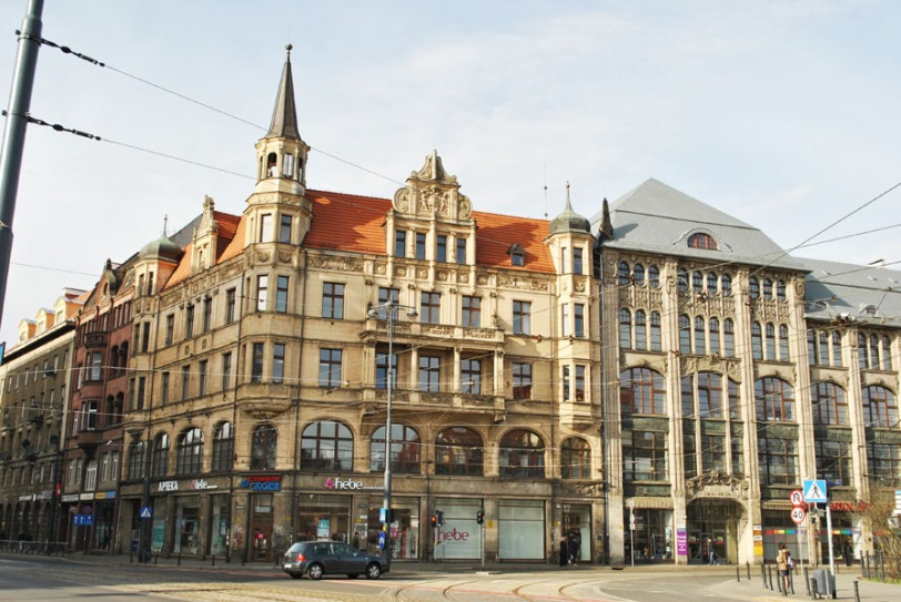 Building facade in Wroclaw