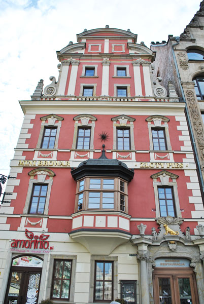 Facades in Wroclaw's Market Square