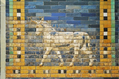 Ishtar Gate of Babylon - aurochs relief