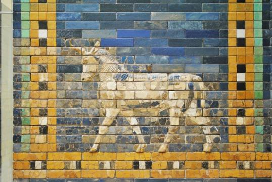 Ishtar Gate of Babylon - aurochs relief