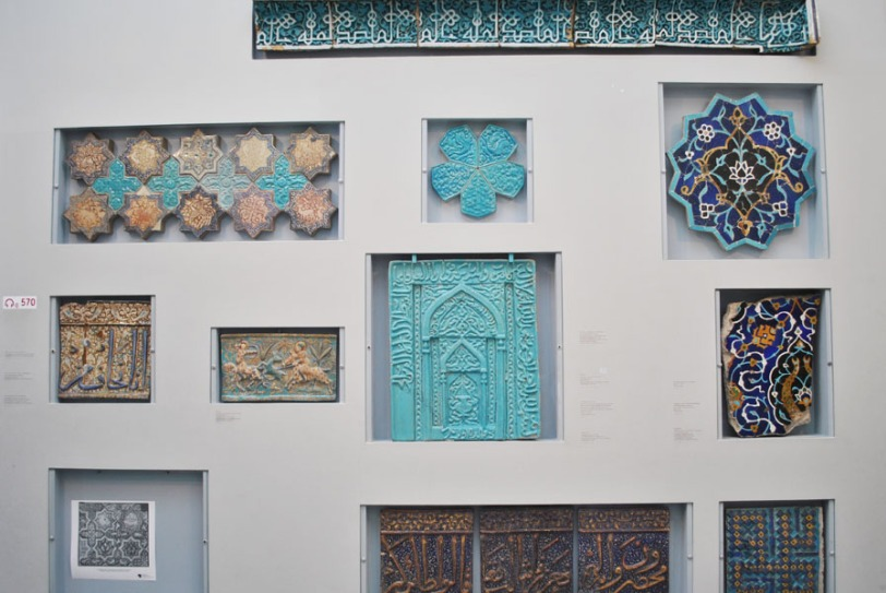 Islamic glazed tiles - Pergamon Museum, Berlin