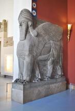 Lamassu guarding an Assyrian palace chamber
