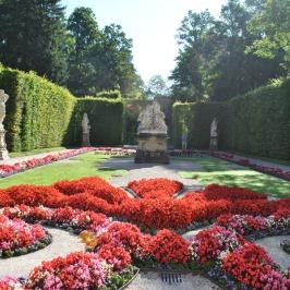 Linderhof Palace - flower garden