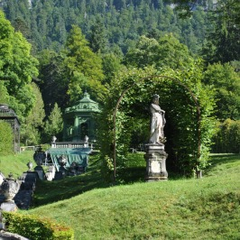 Linderhof Palace - Music Pavilion at the top of the waterfall