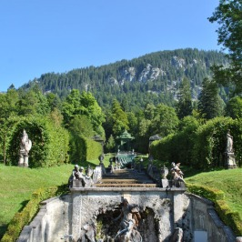 Linderhof Palace - Neptune Fountain at the foot of the waterfall