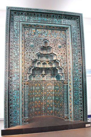 Prayer niche of Beyhakim mosque in Konya - Pergamon Museum, Berlin