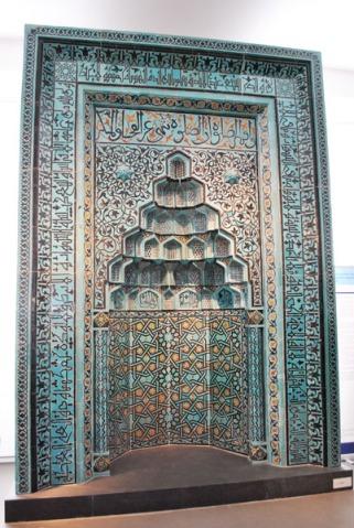 Prayer niche of Beyhakim mosque in Konya - Pergamon Museum, Berlin
