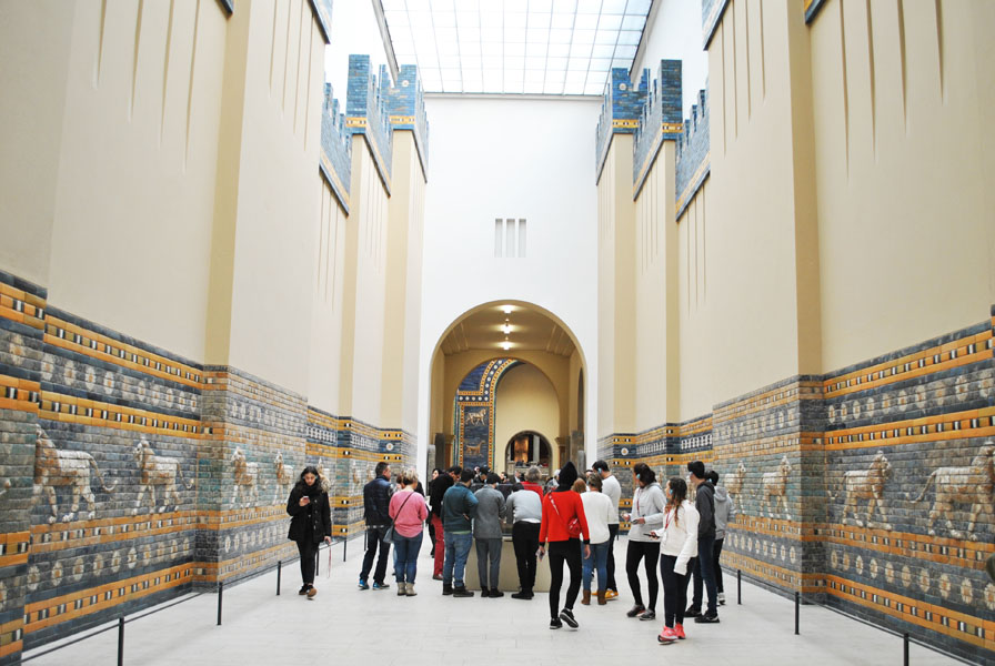 Processional Way of Babylon - view from the temple of Marduk to the Ishtar Gate