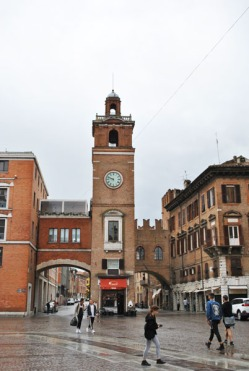 Clock Tower in Ferrara