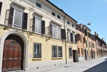 Coloured houses in Ferrara