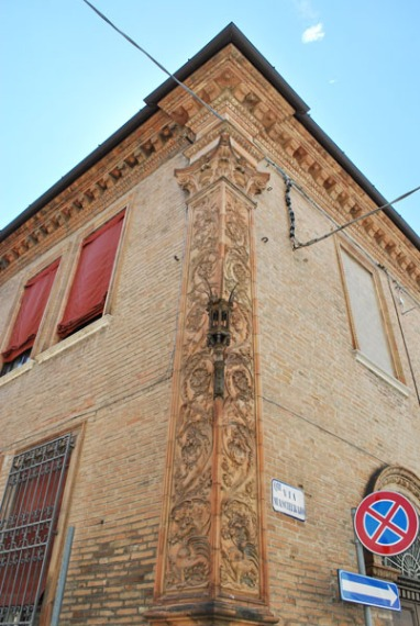 Decorated facade in Ferrara