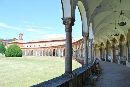 Decorated porticoes of the Certosa Cemetery in Ferrara