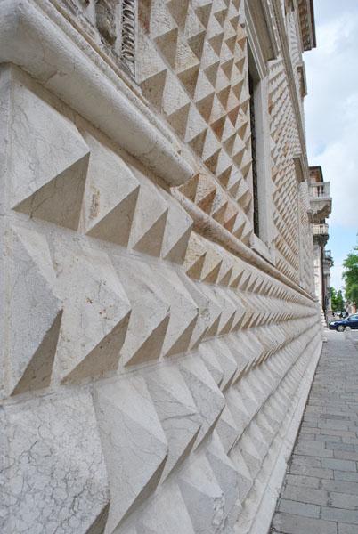 Details of Palazzo dei Diamanti in Ferrara