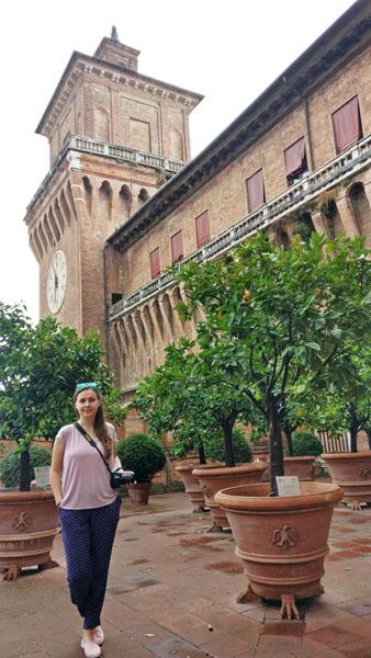 Garden of the Oranges in Castello Estense