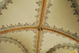 Gothich style vaulted ceiling in Este Castle, Ferrara