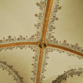 Gothich style vaulted ceiling in Este Castle, Ferrara
