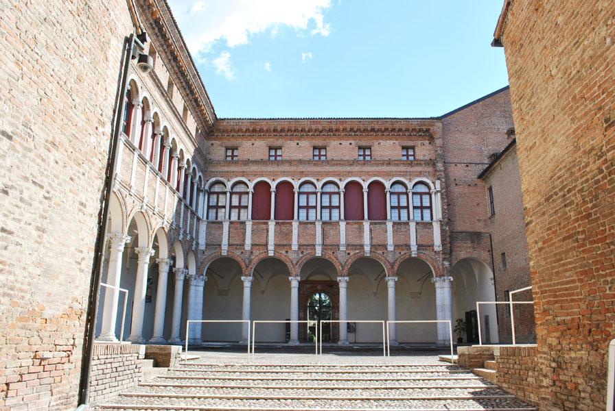 Inner courtyard of Palazzo Costabili in Ferrara