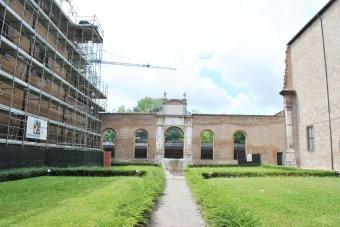 Inner courtyard of Palazzo dei Diamanti in Ferrara