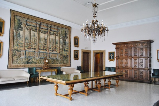 Interior of the Estense Ducal Palace or Palazzo Municipale in Ferrara