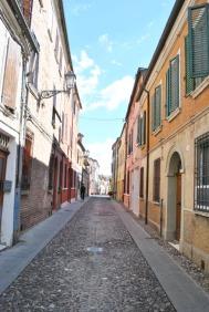 Narrow street in Ferrara