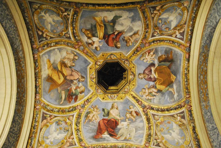 Painted ceiling in Este Castle, Ferrara