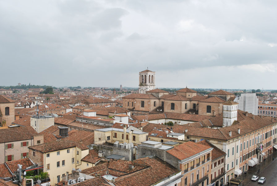 Panoramic view from the Lion's Tower in Este Castle, Ferrara