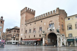 The Estense Ducal Palace or Palazzo Municipale in Ferrara