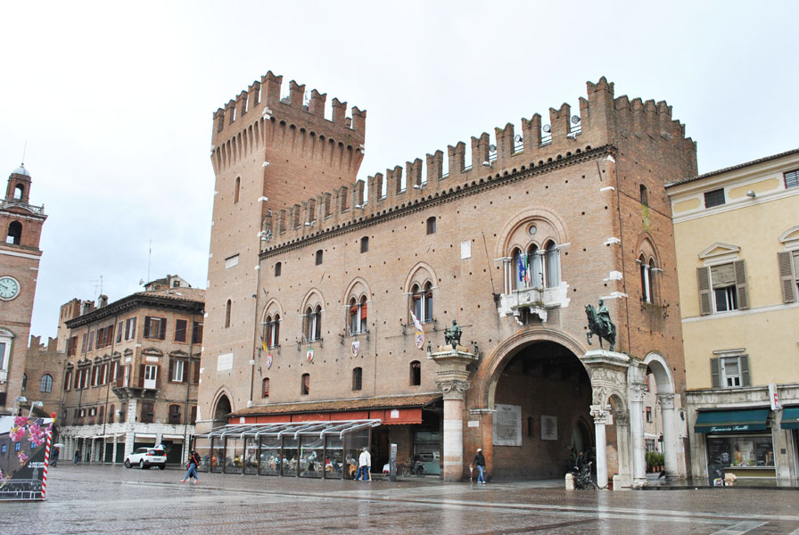 The Estense Ducal Palace or Palazzo Municipale in Ferrara