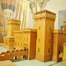 Wooden model of the Este Castle, Ferrara