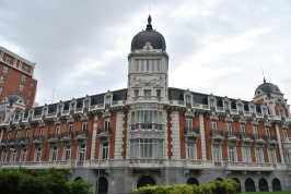 Building in Plaza de Espana in Madrid