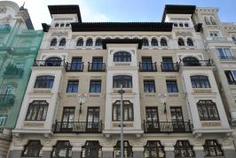 Building on Gran Via in Madrid