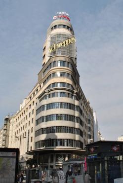 Edificio Carrión Capitol Building on Gran Via in Madrid